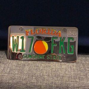 Florida license plate belt buckle